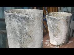 Patinera en kruka - How to age a flower pot - YouTube