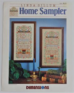 Vintage Dimensions Cross stitch chart  Home Sampler by Linda