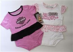 Harley Davidson Baby Girl Onsie Set - FUTURE BIKER BABE!!