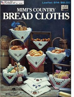 Mimi's Country Bread Cloths / Cross Stitch Pattern Leaflet Leisure Arts 514 by grammysyarngarden on Etsy