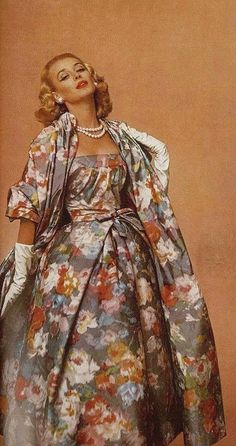 Jacques Fath, 1956 (She looks a bit like she's wearing the bed sheets, to me.)