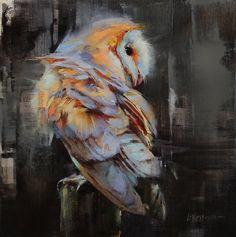 A Not So Common Barn Owl by Lindsey Kustusch Cool Paintings, Animal Paintings, Animal Art Projects, Illustration Art, Illustrations, Bird Artwork, Owl Art, Wildlife Art, Art Techniques
