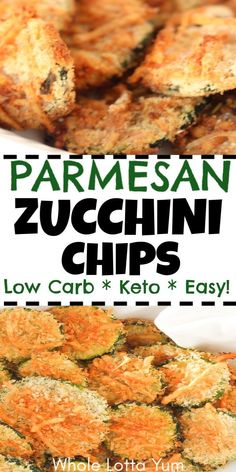 Diet Snacks Baked zucchini parmesan chips are an easy and healthy snack you'll make often, the parmesan zucchini chips are also low carb and keto too! Parmesan Zucchini Chips, Zucchini Pommes, Bake Zucchini, Baked Zucchini Chips, Baked Chips, Low Carb Fried Zucchini Recipe, Baked Zuchinni Recipes, Zuchinni Chips, Zucchini Bites