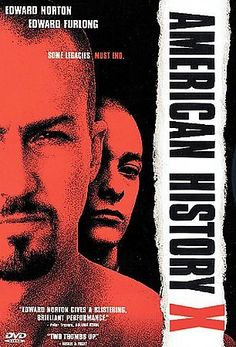 American History X [PN1997 .A448 2001]  Derek Vinyard, the charismatic leader of a group of young white supremacists, lands in prison for a brutal, hate-driven murder. Upon his release, ashamed of his past and pledging to reform, Derek realizes he must save his younger brother, Danny, from a similar fate. A groundbreaking controversial drama about the tragic consequences of racism in a family.