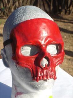 Red Skull Mask by RavenKingRelics on Etsy, $68.00