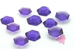 Sugar Jewels, Cake Bling! Purple, Amethyst Edible Hexagon Gems, 19mm
