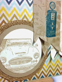 Birthday card for a man: Stamps ClubScrap, Cardstock vanille pur and savanne Stampin' Up!