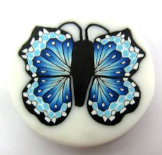 Polymer Clay Jewelry Projects Canes | Polymer clay butterfly cane by tamishvat on Etsy