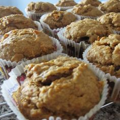 Oat flour, raisins, carrots, and prunes provide four hits of soluble fiber! These muffins make a great snack on their own, or enjoy one with some nonfat yogurt or a hard-boiled egg for an energizing breakfast.
