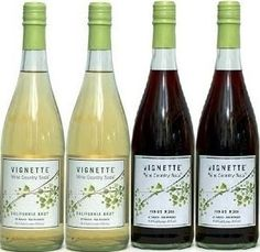 Amazon.com : Vignette Wine Country Soda - Non Alcoholic - 750ml Bottle (Pack of 4) Select Flavor Below (Sampler Pack - 2 each of California Brut & Pinot Noir) : Grocery & Gourmet Food