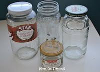 Two Easy Ways To Remove Jar Labels-hot water, olive oil and nail polish remover