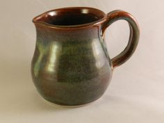 Creamer Pitcher  Autumn Blue by PeasleyPottery on Etsy, $32.00