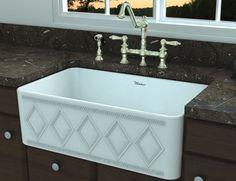"""Whitehaus 30"""" Fireclay Farmhouse Sink WHFLDI3018-WHITE"""