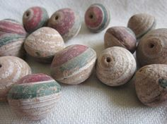 Unusual clay beads from Togo