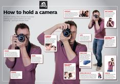 Cheat Sheet: How to Hold a Camera Learning to hold your digital camera is one of the most basic skills you'll ever learn. In fact it is so basic that many people take it for granted. However, holding your camera correctly is easy to get wrong which in turn leads to images that suffer from camera shake.  We've written numerous times on the topic of how to hold your camera (see below for more links) but thought this cheat sheet might help some of you visualise good technique (click to…