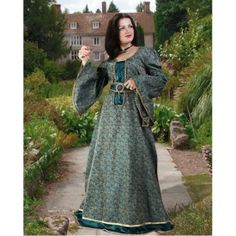 Courtly Green Brocade Dress available at PurePirate.com