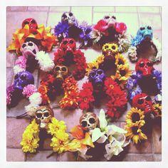 How does YOUR garden grow? Skull and Flower headbands