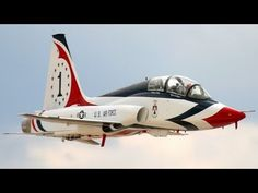 USAF Air Force Thunderbirds Aerobatic Team T-38 Talon Aircraft Introduction Video from 1974.