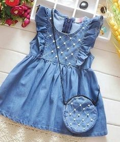 Sewing for kids summer for girls ideas - Babykleidung Baby Girl Frocks, Frocks For Girls, Little Girl Dresses, Summer Dresses For Girls, Summer Girls, Kids Girls, Girls Frock Design, Baby Dress Design, Baby Frocks Designs