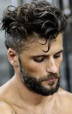 The beard is the one thing that makes any hairstyle look fabulous when combined with them. Check out these 2 amazing Curly Hairstyle and Beard styles that add the oomph factor in your appearance. Undercut Curly Hair, Wavy Hair Men, Undercut Men, Undercut Hairstyles, Boy Hairstyles, Men's Hair, Hair Dye, Curly Hair Styles, Curly Hair Cuts