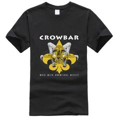Crowbar American band Tee shirt Men's T shirt Cool Fashion o neck Tops Short Sleeve Tees fashion male clothing #Affiliate