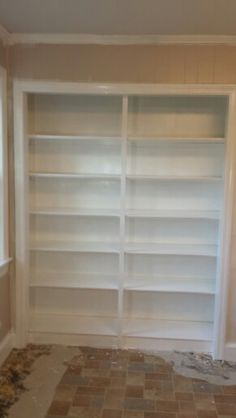 Convert Closet Into Bookcase For The Home In 2019