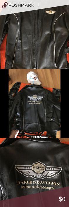 Hundredth anniversary addiction Harley  Davidson Hundredth anniversary addition Harley Davidson soft soft leather beautiful jacket has been worn but looks new Harley Davidson Jackets & Coats Utility Jackets