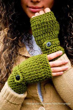 Crochet Wrist Warmers, Fingerless Gloves