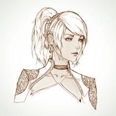 Sketch of Lunafreya from FFXV Kingsglaive. Can't wait for the movie!