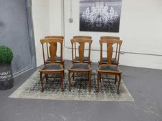 Antiques By Design - Oak T Back Paw Foot Dining Chairs Antique Dining Chairs, Bar Stools, Dining Room, Antiques, Farmhouse, Furniture, Design, Home Decor, Bar Stool Sports