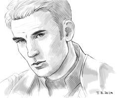 Sketch of Steve in Cap 2.