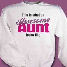 Awesome Aunt Personalized Sweatshirt