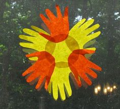 Handprint and Footprint Arts & Crafts: Handprint Sun Craft Ideas {Round Up}