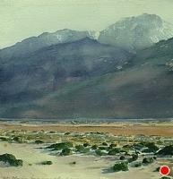Olancha by Victor Schiro Watercolor ~ 10.5 x 10.25