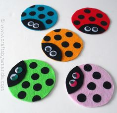 Recycled CD Ladybugs - Crafts by Amanda