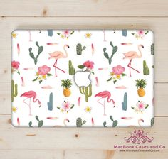 Cactus Flamingo MacBook Case. MacBook Case. Top (printed) and Bottom (clear)…