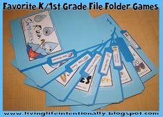Favorite Kindergarten and 1st Grade File Folder Games - FREE
