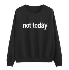 SheIn offers Black Drop Shoulder Letters Print Sweatshirt & more to fit your fashionable needs. Funny Hoodies, Hoodie Sweatshirts, Printed Sweatshirts, Cute Lazy Outfits, Funny Outfits, Sweatshirt Outfit, T Shirt, Funny Sweaters, Cool Sweaters