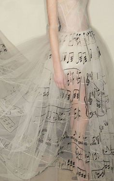 A very musical gown...