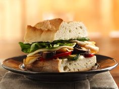 Chicken and Grilled Vegetable Stacked Sandwiches { Crocker} - healthy and a good use of leftover grilled veggies. Grilled Vegetable Sandwich, Grilled Veggies, Grilled Chicken Recipes, Soup And Sandwich, Sandwich Recipes, Wrap Sandwiches, Lemon Chicken, Relleno, Grilling