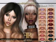 FRS Lipstick N29 for The Sims 4