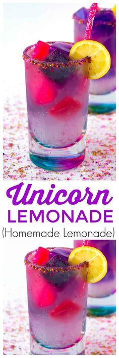Unicorn lemonade is