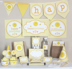 My Little Sunshine Birthday Printable Party Kit