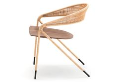 Milan Design Week 2015 The George's Chair by David Lopez Quincoces for Living Divani combines past with present and delicacy with strength in its slim steel structure and wrapped wicker or rope dressing.