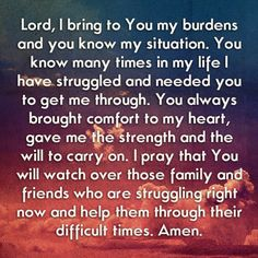 Prayer for difficult situation
