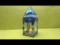 como hacer un farolito con latas de aluminio tutorial - YouTube