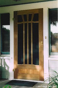 Greene & Greene Inspired Mahogany Screen Door - Los Angeles, CA