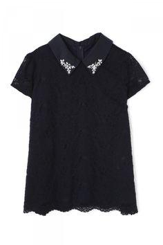 衿付きレースブラウス | ブラウス・シャツ | PROPORTION BODY DRESSING | MIX.Tokyo