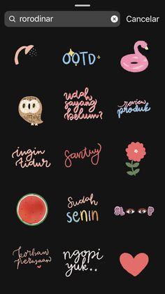 Instagram Blog, Instagram Editing Apps, Instagram Emoji, Creative Instagram Stories, Instagram And Snapchat, Instagram Story Ideas, Instagram Quotes, Gifs, Snapchat Stickers