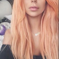 This year (2015) peach hair color is very popular. Many women try this hair color. I think it's a beautiful hair color. Suitable for all skin colors. In dark skin it looks very nice....Share the joy